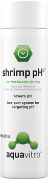 aquavitro? shrimp pHa is one part of a two-part system which aids in replicating the water chemistry found in the native habitats of freshwater shrimp by buffering water to the natural pH for each specific type of shrimp. Used according to directions, shrimp pHa maintains the proper pH parameters of freshwater shrimp while also softening water and supporting growth of plants in shrimp aquaria. shrimp pHa is made from a unique buffer system that is extremely stable and does not add sodium, which can damage plants in the aquarium.