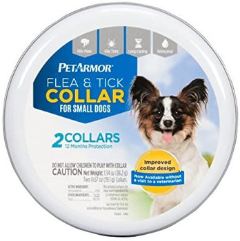 Size:Small Sentry flea & tick collar for dogs contains deltamethrin to protect against fleas and ticks, including those that may carry Lyme disease and rocky mountain spotted fever. Two collars provide up to 12 months of protection and it can be used on puppies as young as 12 weeks of age. This waterproof collar is for small dogs with necks up to 14 Inch.