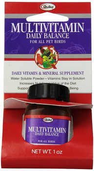 Nutrient-rich vitamin and mineral supplement 12 different multivitamins and minerals. Contains antioxidants, great for senior birds Rich in Vitamin A, important for all birds Powder Supplement which is also Water Soluble. 12 different multivitamins and minerals specially formulated in a powdered supplement intended for everyday use.