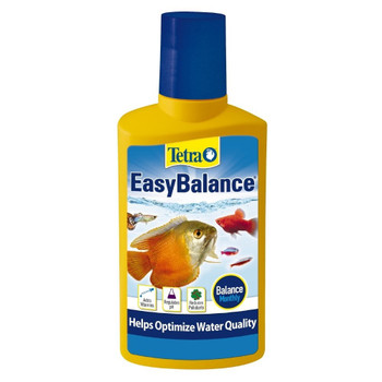 Easy balance water treatment for fresh water aquariums reduces frequent water changes keeps aquarium water biologically balanced for up to 6 months stabilizes ph and alkalinity kh levels vital for fish and plants reduces nitrates and phosphates 3. 38 Oz carded.