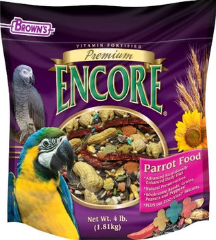 Encore Premium, a premium, vitamin-fortified food that is formulated to provide the proper nutrition your pet requires. We've blended the highest quality select seeds and grains together and topped it off with our colorful, vitamin-packed food shapes that make feeding time exciting, tasty, healthy and fun.