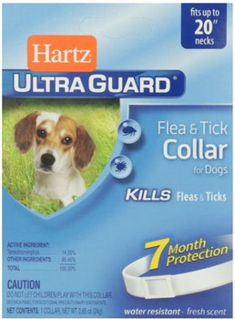 Hartz Ultra Guard Flea & Tick Dog Clr Wte <20""
