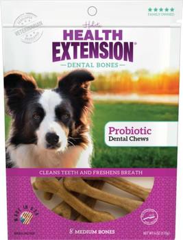 Health Extension Medium Probiotic Dental Chews 8pk *REPL 587090