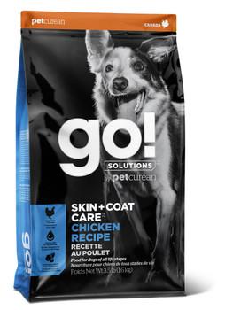 Petcurean Go! Skin & Coat Care Chicken Dog Food 3.5lb C=6 *REPL 152350