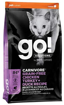 Some cats have decidedly carnivorous preferences. This grain-free, protein-rich recipe provides complete & balanced nutrition to help your cat stay healthy, fit and playful. This recipe also features:. 100% fresh chicken, turkey, trout, salmon & duck and premium quality chicken, duck, turkey & salmon meals. Fruits & veggies, with antioxidants to support immune system function, plus taurine to aid vision and heart function. Probiotics and prebiotic fibre promote healthy gut bacteria and good digestion. 0% by-product meals, added growth hormones, artificial preservatives, wheat, corn or soy. Grain & gluten free recipe.