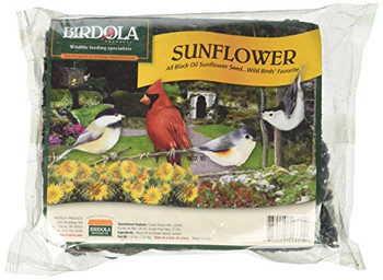 Birdola Sunflower Seed Cake is made entirely of black oil sunflower seeds which are wild birds' favorite seed.