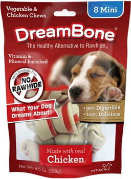 Dreambone Chicken Dog Chew Mini 8pck