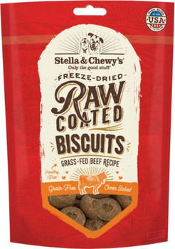 Stella & Chewy's Raw Coated Biscuits Grass-Fed Beef Recipe 9 oz
