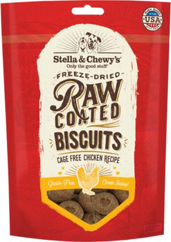 Stella & Chewy's Raw Coated Biscuits Cage-Free Chicken Recipe 9 oz
