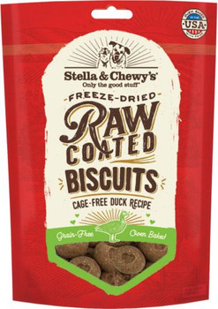 Stella & Chewy's Raw Coated Biscuits Cage-Free Duck Recipe 9 oz