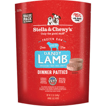 STELLA & CHEWY'S DOG FROZEN DINNER PATTIES LAMB 12LB