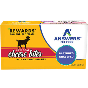 ANSWERS DOG CAT FROZEN TREATS GOAT CHEEZE & CHERRY 8OZ