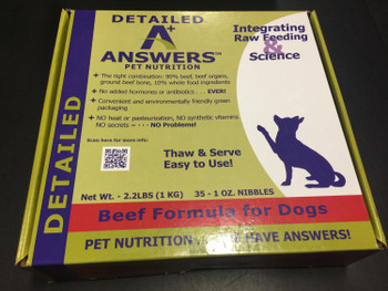 Answers Detailed formula provides a superior, wholesome and balance diet of only the highest-quality sourced and fermented ingredients, suitable for all life stages. Our quality protein, fat-balanced and high-vitamin formulations ensure your pet receives all the necessary nutrients and maximum nutritional benefits required for a healthy immune system, digestive tract, and better overall health.