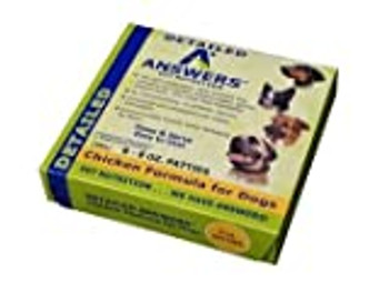 Answers Pet Food offers a choice of soft, moist patties or smaller nibbles to provide your dog with the quality they deserve in the quantity they need.
