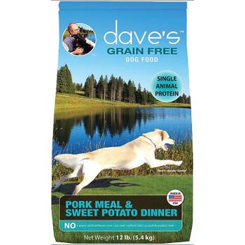 DAVE'S NATURALLY HEALTHY GRAIN FREE PORK & SWEET POTATO 28LB