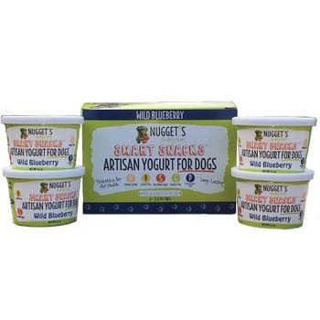 NUGGET'S HEALTHY EATS DOG FROZEN YOGURT BLUEBERRY 3.5OZ 4 PACK