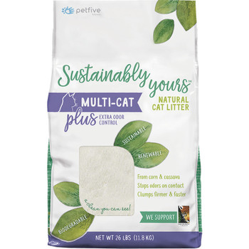 SUSTAINABLY YOURS CAT NATURAL PLUS LITTER 26LB