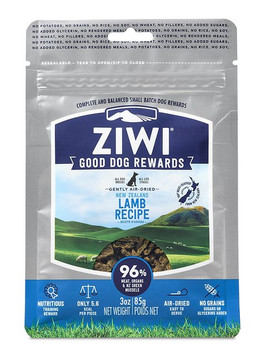 Simple and pure, just like the Ziwi love for dogs, this recipe gives your pal the best of New Zealand. Using fresh meat, organs and bone, these treats are the ideal training tool, and a perfect way to reward your loved companion. And just like the Ziwi air-dried food, they used a gentle twin-stage air-drying process that naturally preserves all the ingredients while eliminating pathogenic bacteria. Plus, there?s just 5.6 calories each?making it the perfect package for your dog to thrive! Never Run Out with Autoship - Easy Repeat Deliveries.