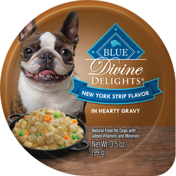 BLUE BUFFALO DOG DIVINE DELIGHTS NEW YORK STRIP IN GRAVY 3.5OZ CUP