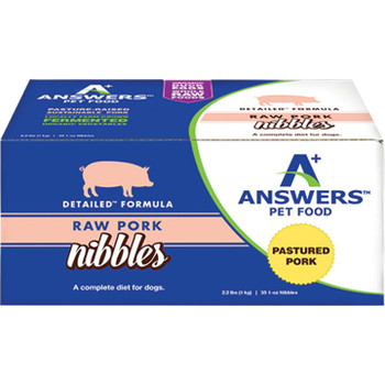 ANSWERS DOG FROZEN DETAILED PORK NIBBLES 2.2LB