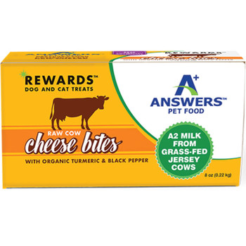 ANSWERS DOG CAT FROZEN TREAT COW CHEESE TUMERIC 8OZ