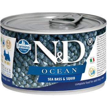 FARMINA DOG GRAIN FREE OCEAN SEABASS SQUID MINI 4.9OZ