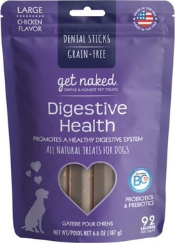 N-Bone Get Naked Digestive Stick Large Dog Treat 6.6z *REPL 575253
