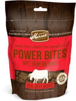 Merrick Power Bites Real Texas Beef 6oz{L+x}
