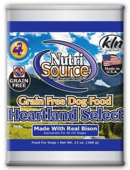 Nutri Source Grain Free Heartland Select Can Dog Food 12/13Z
