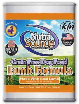 Nutri Source Grain Free Lamb Can Dog Food 12/13Z