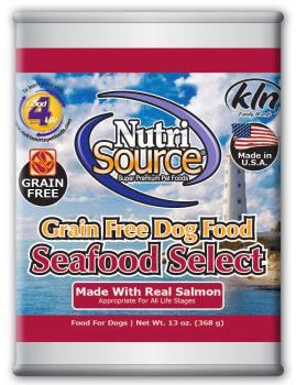 Nutri Source Grain Free Seafood Select Can Dog Food 12/13Z