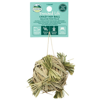 Oxbow Crazy Hay Ball Small Animal Toy