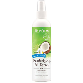 TROPICLEAN DOG DEODERIZING SPRAY LIME COCONUT 8OZ