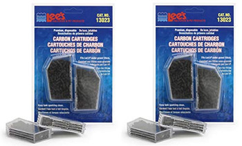 Cartridges are filled with high-grade, activated carbon. They are easy to install and keeps tank sparkling clean.Use with LEE #;S Premium, Original, or Economy under gravel filter elbows.