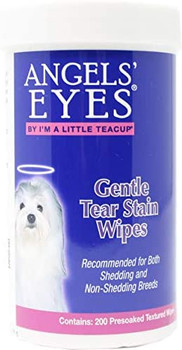 Formulated to help remove dried mucus secretions, discharge, and tear stains. May be used on beard stains, and coat stains. Use daily to keep eye exterior clean and help reduce the risk of eye irritations and itching caused by foreign matter.