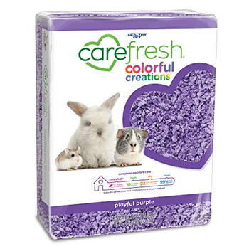 Only Carefresh reg; is made from scratch with ultra absorbent comfyfluff trade;. Using natural fiber obtained directly from its source, our bedding is designed to keep pets feeling dry, warm, and comfortable. Create a playful home by adding a pop of color