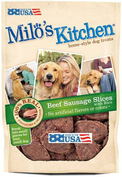 Milo's Kitchen Beef Sausage Slices WIth Rice 22oz