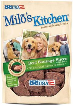 Milo's Kitchen Beef Sausage Slices WIth Rice 22oz