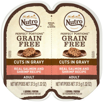 Nutro Perfect Portions Cuts in Gravy Salmon & Shrimp Recipe Cat Food 24ea/2.65oz
