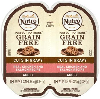 Nutro Perfect Portions Cuts in Gravy Chicken & Salmon Recipe Cat Food 24ea/2.65o