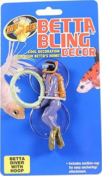 Cool decoration for your betta #;s home! Includes suction-cup for easy anchoring/attachment.
