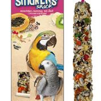 A& E Vitapol Smakers Parrot Maxi Twin Pack Treat Stick- Fruit 2 pack