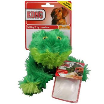 Kong Medium Sitting Frog Plush Toy