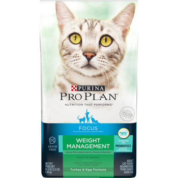 Purina Pro Plan FOCUS Weight Management Turkey & Egg Adult Cat Dry Food 6/3.2lb