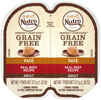 Nutro Perfect Portions Pate Real Beef Wet Cat Food 2.6oz