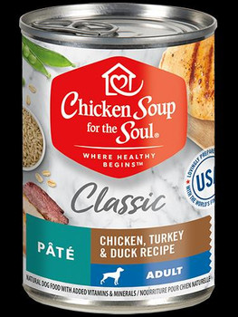 Chicken Soup Adult Dog - Chicken, Turkey & Duck Pate 12/13oz can *REPL 418232
