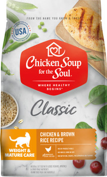 Chicken Soup Weight & Mature Care - Chicken & Brown Rice Recipe Cat 4.5 Lb C=6 418435{L-1}