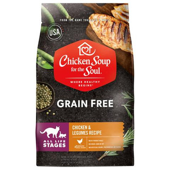 No.4 Grain Free Chicken & Legumes Cat Food To have a pet at the home requires a lot of passion, care and love. Our Pet Supplies items consist of high quality selection of pets daily needs and everything concerning for your beloved furry pals. Ingredients Chicken, chicken meal, peas, faba beans, pea protein, lentils, chicken fat (preserved with mixed tocopherols), ground flaxseed, natural flavor, salmon oil (preserved with mixed tocopherols), calcium carbonate, salt, choline chloride, taurine, mixed tocopherols (preservative), citric acid (preservative), zinc proteinate, zinc oxide, vitamin E supplement, ferrous sulfate, niacin supplement, L-ascorbyl-2-polyphosphate, manganous oxide, manganese proteinate, copper sulfate, vitamin A supplement, d-calcium pantothenate, thiamine mononitrate, sodium selenite, riboflavin supplement, copper proteinate, pyridoxine hydrochloride, calcium iodate, vitamin D3 supplement, dried Lactobacillus acidophilus fermentation product, dried Lactobacillus casei fermentation product, dried Lactobacillus plantarum fermentation product, dried Enterococcus faecium fermentation product, folic acid, cobalt carbonate, inositol, biotin, vitamin B12 supplement, rosemary extract. Specifications Weight: 24 lbs Size: One size.