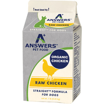 ANSWERS DOG FROZEN STRAIGHT CHICKEN 1LB