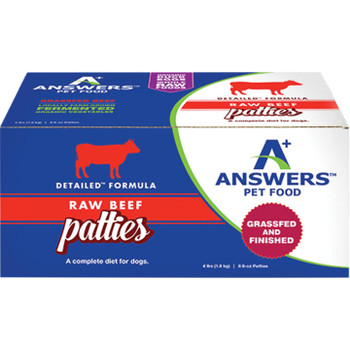 ANSWERS DOG FROZEN DETAILED BEEF 8OZ PATTIES 8 COUNT